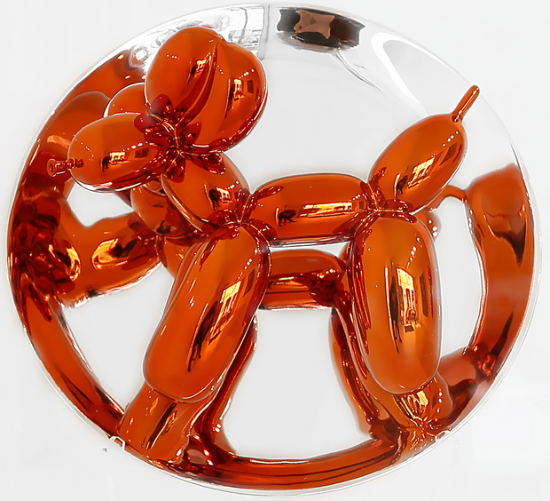 this image shown is a Ballon dog by Jeff Koons whose work is also in the private collection of atKinsky die Sammlung Kinsky
