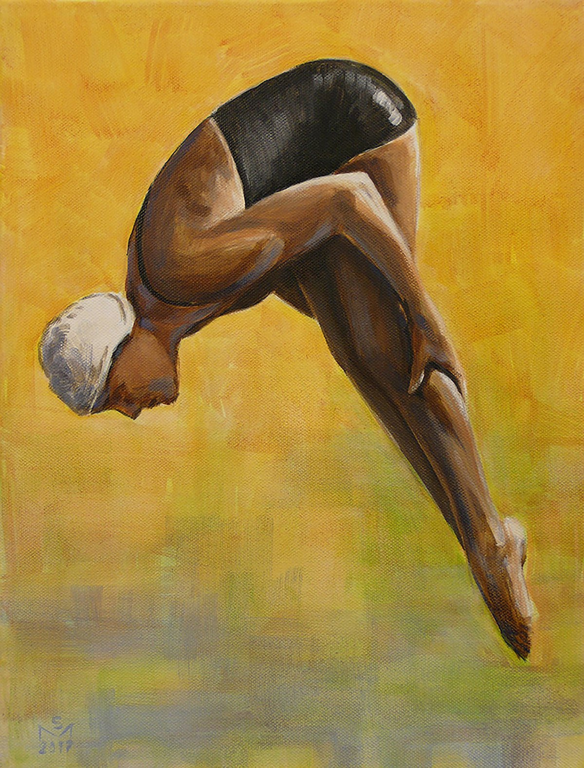 The Diver by Sarah Morrissette is represented by atKinsky die Sammlung Kinsky